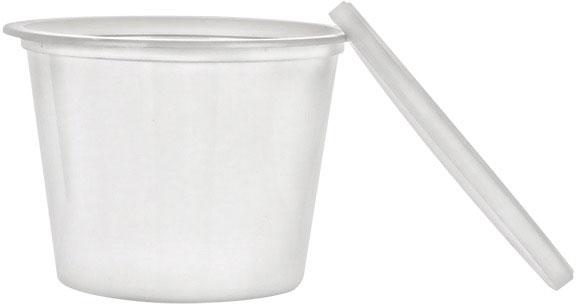 12 oz White Tub w/Lid
