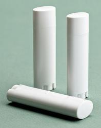 0.15 oz White Lip Tube & Cap - Oval