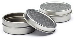 1 oz Round Shallow Tin w/Friction Lid