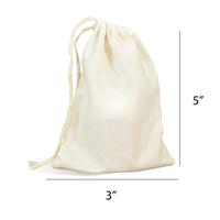 Muslin Drawstring Bags 3 x 5