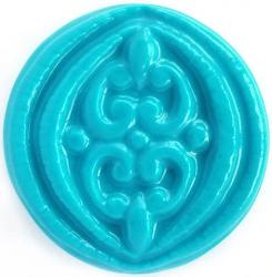 Filigree Circle Soap Mold: 4 Cavity