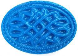 Filigree Oval Soap Mold: 4 Cavity