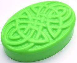 Oval Knot Soap Mold: 4 Cavity