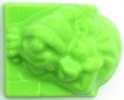 Santa w/Bag Soap Mold: 4 Cavity